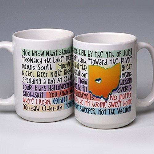 15 oz. Whimsical Ceramic Ohio State Coffee/Tea Mug ~ gifts to make you LOL