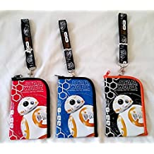 3 pcs Star Wars BB-8 Astromech Droid Lanyard ID Pouch Badge Holder Wallet