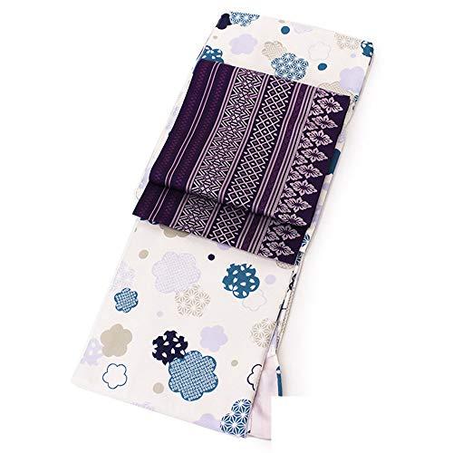 (オオキニ) 大喜賑 着物セット 洗える着物 【2点セット】 袷着物+名古屋帯 Lサイズ