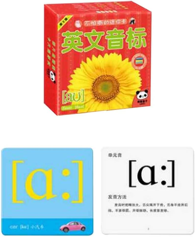 Amazon Com 42 Pcs Picture Words Flash Cards English Phonetic Alphabet Flash Cards 01 Office Products