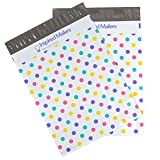 Inspired Mailers Poly Mailers 10x13 Colorful Pastel Polka Dots – Pack of 100 – Unpadded Shipping Bags
