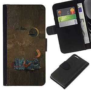 All Phone Most Case / Oferta Especial Cáscara Funda de cuero Monedero Cubierta de proteccion Caso / Wallet Case for Apple Iphone 5C // Abstract Painting