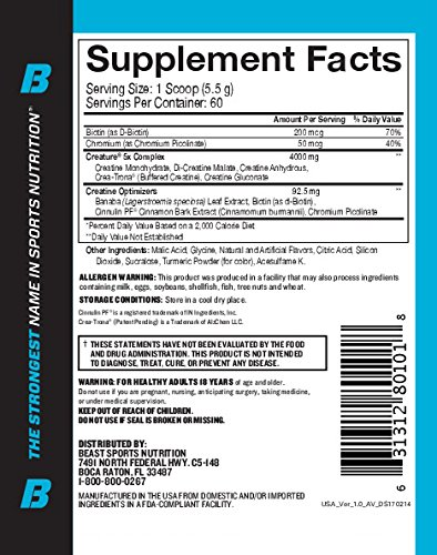 Beast Sports Nutrition – Creature Creatine Complex – Fuel Muscle Growth – Optimize Muscle Strength – Enhance Endurance – Increase Recovery Time – Five Forms of Creatine – Citrus 60 Servings by Beast Sports Nutrition (Image #2)