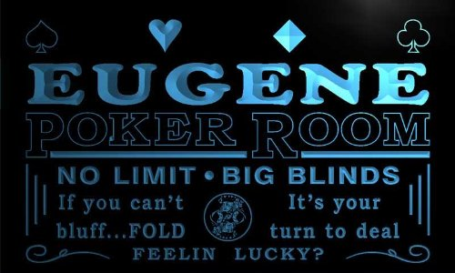 pd2199-b Eugene Poker Room Casino Bar Beer Neon Light Sign - Neon Casino Light