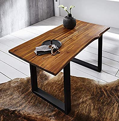 SAM® Elegante Mesa de Comedor IDA 200x100 cm de Madera de Acacia ...