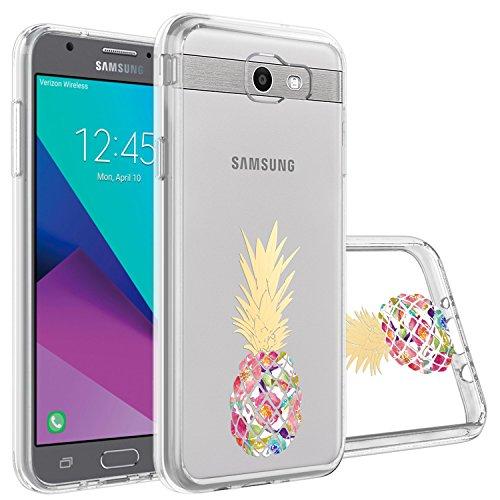 Topnow Samsung Galaxy J7 2017 Case, Galaxy J7 Prime Case, Printing Pattern Phone Cases Cover for Galaxy Halo/J7 2017/J7 V/J7 Sky Pro/J7 Perx/J7V 2017/J7 Prime(Colorful Pineapple)