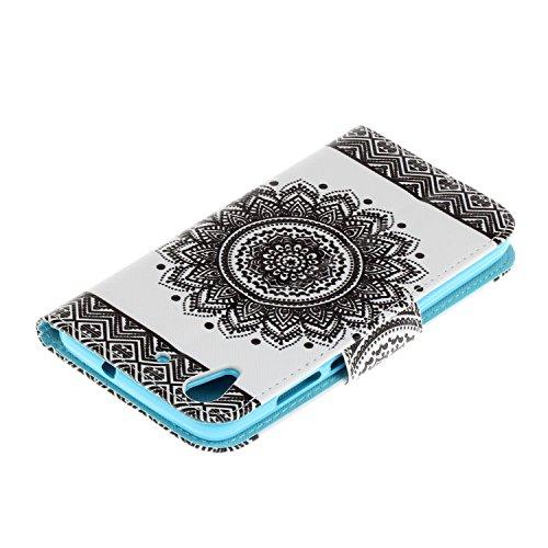 Caja de Teléfono para Huawei Y6 II/Huawei Honor 5A Funda LuckyW Casa Flip Folio Funda Bookstyle Funda Flexible Ligera Duradera con Función de Soporte Ranuras de Tarjeta Soporte de Identificación Cierr Mandala
