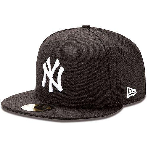 New Era New York Yankee Mlb Fitted Cap Black 7 3/4