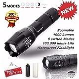 Gillberry Tactical LED Flashlight G700 SkyWolfeye X800 Zoom Super Bright Military Grade