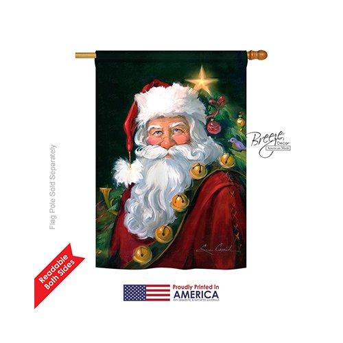 Breeze Decor H114095 Santa Portrait Christmas Vertical House Flag, 28″ x 40″, Multicolor Review