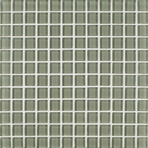 Arizona Tile 1 by 1-Inch Skylights Glossy Glass Tile on a 12 by 12-Inch Mosaic Mesh, Kiwi, 11-Pack ()