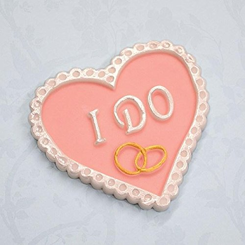 I Do Heart Plaque Silicone Mold for Cake Decorating, Cupcakes, Sugarcraft, Candies, Crafts and Clay, Food Safe