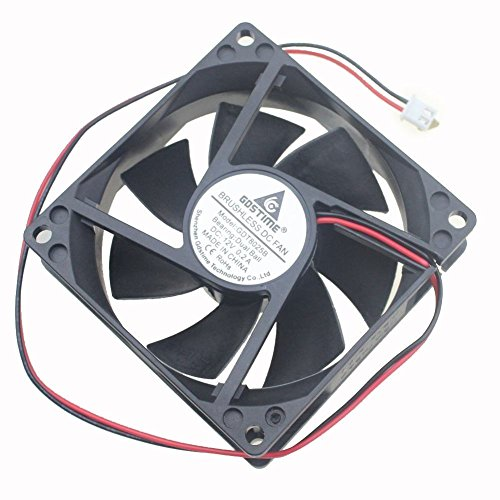 (Gdstime 80mm x 25mm 8025B 12V Dual Ball Bearing DC Brushless Cooling Fan)