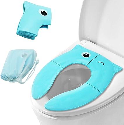 Riduttore WC per Bambino Pieghevole Riduttore Vasino da Viaggio per Bambini