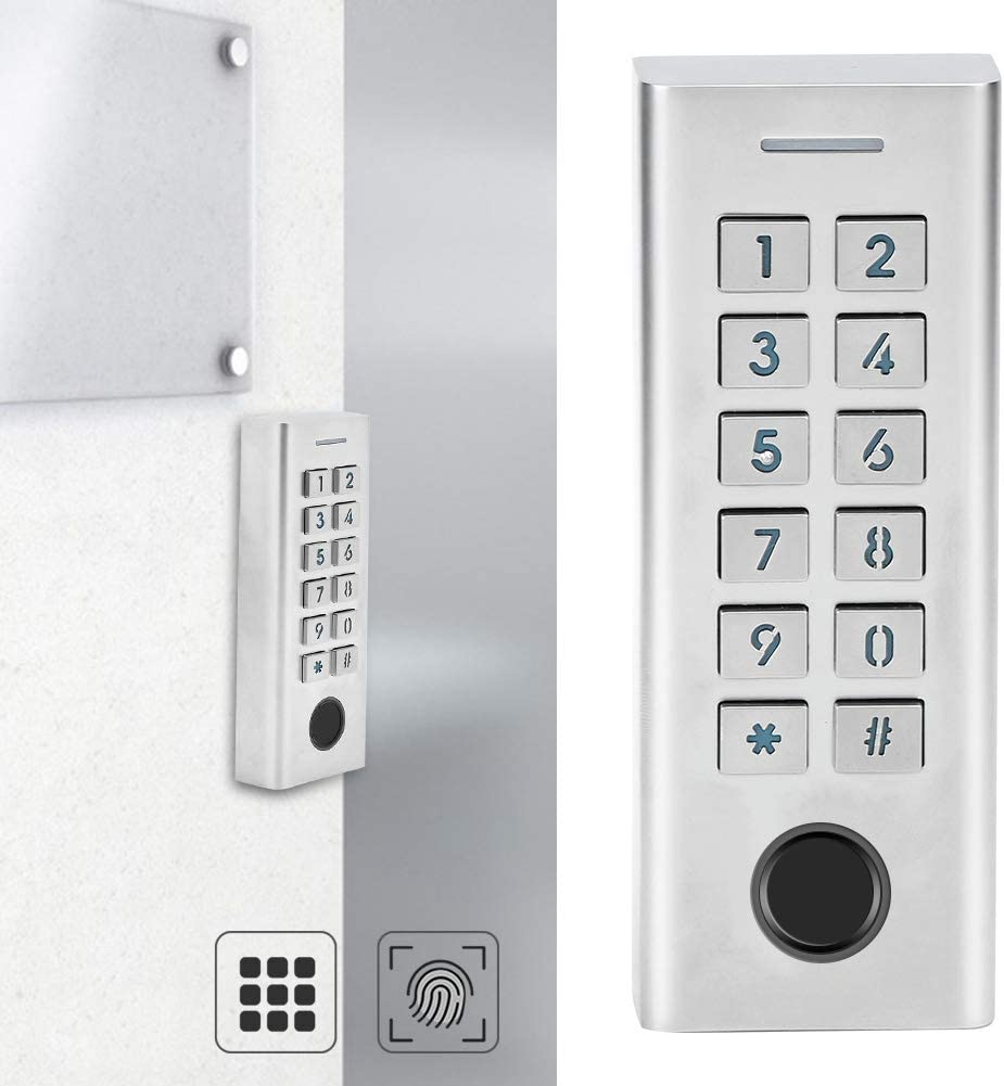 Digital Password Lock Access Control System for Home//Office//School//Flat Smart Fingerprint Lock Keyless Door Lock Smart Door Lock Waterproof Home Security System