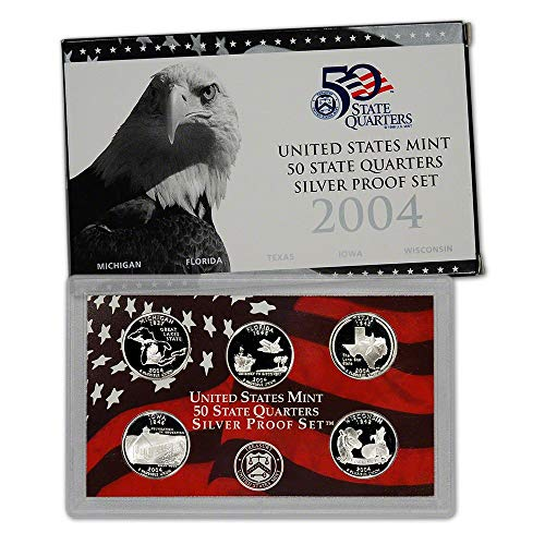2004 S U.S. Mint Proof Silver State Quarters - OGP Original Government Packaging Superb Gem Uncirculated