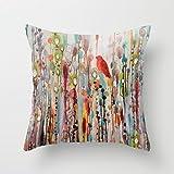 Decorative Square Pillow Case Cushion Cover 18 x 18 Inches La Vie Comme Un Passage