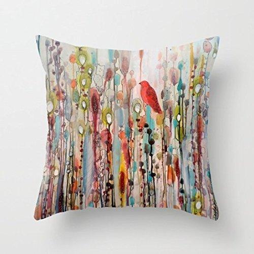 Decorative Square Pillow Case Cushion Cover 18 x 18 Inches L
