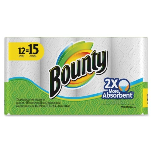 """Bounty Paper Towel - 2 Ply - 55 Sheet - 12 / Pack - 11"""" x 10.40"""" - White - Paper"""