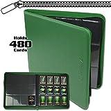 BCW Z-Folio LX Zipper Portfolio Green 12 Pocket Playset Album