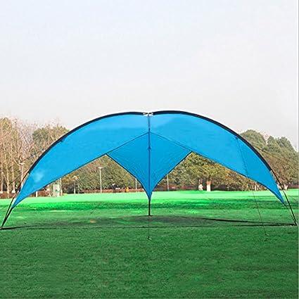 HWZPHH Tente,Tente pour Camping,5-8 Personne Extérieure Grande Tente De Camping Anti-Ultraviolet Auvent Tente Pliante Pêche Jardin Plage Abri Soleil 470 * 470 * 190 Cm