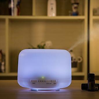 Humificador Ultrasónico, Difusor de Aromas, Luz Ambiente