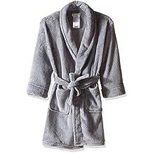 Komar Kids boys Big Boys Big Boys' Fleece Robe Solid Gray