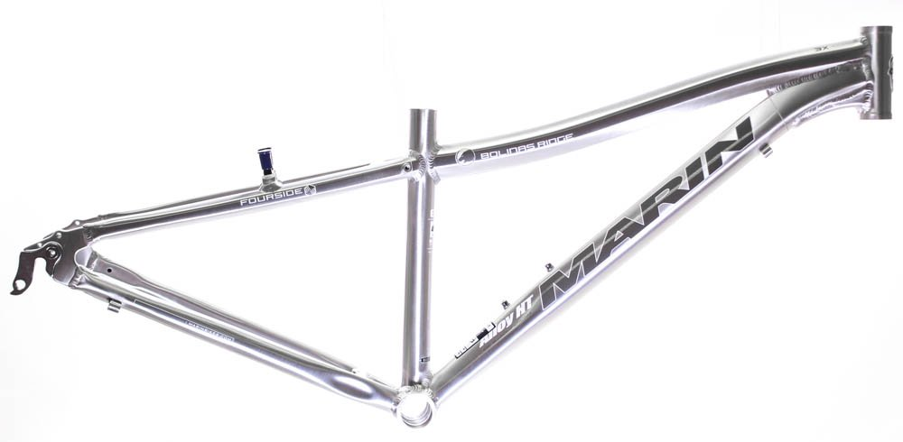 22'' MARIN BOLINAS RIDGE 26'' Hard Tail MTB Frame Brushed Silver Aluminum NOS NEW