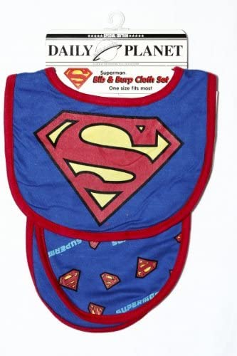 DC Bib and Burp Cloth Set, Superman, de 3 Pack Color: Boy s ...