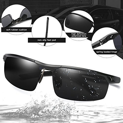 8a11e412b2 DUCO Men s Polarized Sunglasses for Men Sports Driving Cycling Running  Fishing Golf Unbreakable Frame Metal Driver