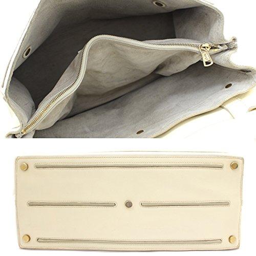 6f75e618158 無料発送 Yves Saint Laurent イヴサンローラン ミューズトゥ ハンドバッグ レディース レザー ホワイト 白 鞄
