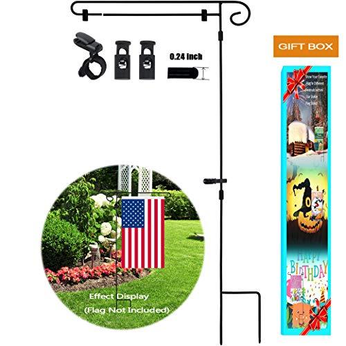 Garden Flag Stand,Yard Garden Flag Pole Holder with shtopper