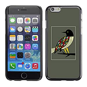 PC/Aluminum Funda Carcasa protectora para Apple Iphone 6 Bird Branch Pretty Ornithology / JUSTGO PHONE PROTECTOR