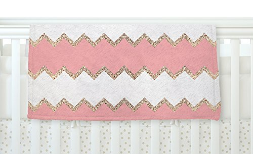 KESS InHouse Monika Strigel Avalon Coral Chevron White Blush Fleece Baby Blanket 40 x 30 [並行輸入品]   B077Z361WS