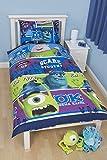 Disney Monsters Inc University Single Rotary Duvet Set, Multi-Colour