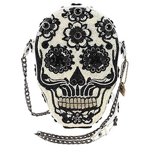 Mary Frances Bones About It Embellished Skull Crossbody Handbag, - Bones Skull No