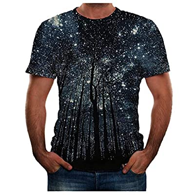 TOPUNDER Men Summer New Full 3D Printed T Shirt Plus Size S-3XL Cool Printing Top Blouse
