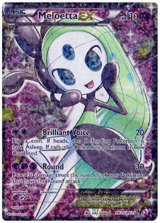 Pokemon - Meloetta-EX (RC25/RC25) - Legendary Treasures (Black And White Legendary Treasures Booster Box)