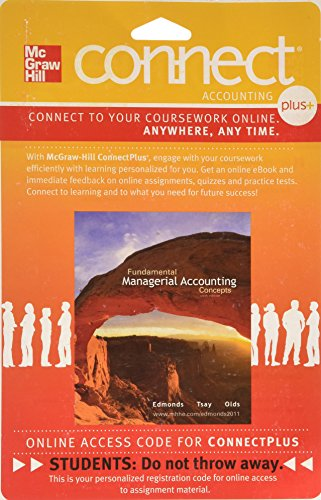 Connect Plus Access Card  to accompany Fundamental Managerial Accounting Concepts