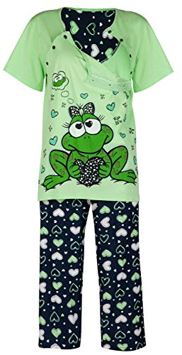 Happy Mama Damen Umstands Nachthemd/Pyjama/Morgenmantel SEPARAT ERHÄLTLICH. 780p (Pyjama, EU 38, S)