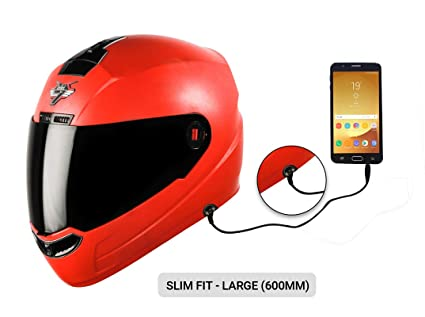 247904e8 Steelbird SBA-1 7Wings HF Dashing Full Face Helmet with Smoke Visor and  Detachable Handsfree Device (Large 600 MM Slim Fit, Red): Amazon.in: Car &  Motorbike
