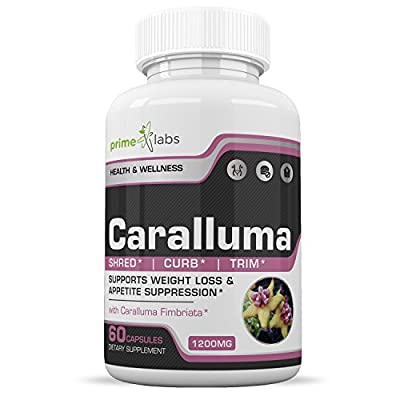 Prime Labs Caralluma Fimbriata Weight Loss Supplement for Women and Men that Work Fast - Natural Fat Burner & Appetite Suppressant, Stimulant-Free Best Diet Pill on the Market - 60 Capsules