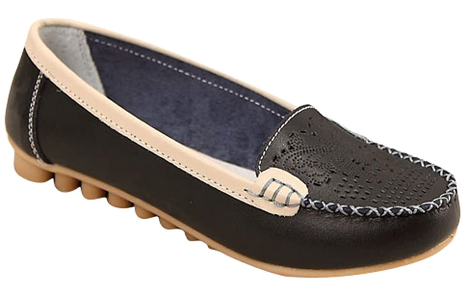 1c05e583356 best Ace Women s Fashion Casual Slip-on Dress Leather Loafer Flats Shoes