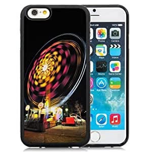 Beautiful Custom Designed Cover Case For iPhone 6 4.7 Inch TPU With Ferris Wheel Long Exposure Phone Case