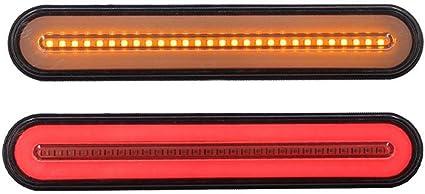 Volwco 100 Barra de luz LED de 9 Pulgadas, Rojo/ámbar, luz de ...