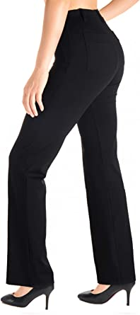 Amazon Com Yogipace Pantalones De Trabajo De Yoga Con Trabillas Para Cinturon Para Mujer Tamanos Pequeno Regular Alto Clothing