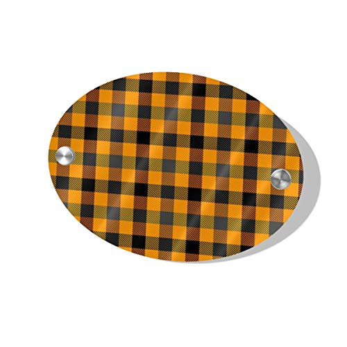 Halloween Tartan Plaid Pattern Scottish Cage Door Decoration Card MDF 5.5