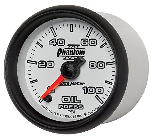 Phantom Electric Oil Pressure Gauge - Auto Meter 7553 Phantom II Electric Oil Pressure Gauge