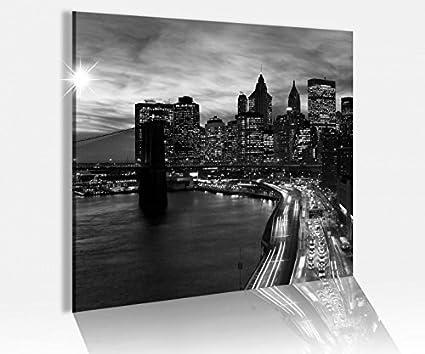 Amazon.de: Acrylglasbild 50x50cm Skyline New York Brooklyn