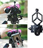 Hawkeye Universal Smartphone Telescope Adapter Mount - Compatible with Binocular Monocular Spotting Scope Telescope and Microscope - For Iphone Sony Samsung HTC LG Etc - Smartphone Video Record World